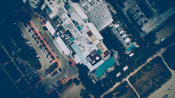 Aerial View, Architecture, Buildings, Business, Cars