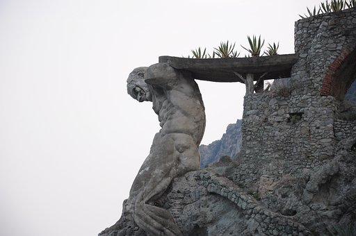 Cinque Terre, Monterosso, The Giant, Sea