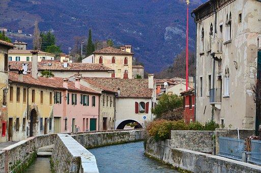 Italy, Vittorio Veneto, City View, Channel