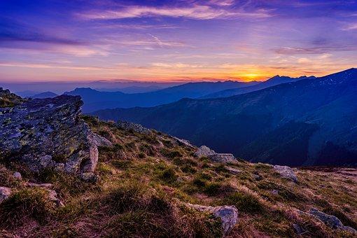 Cloud, Dawn, Golden Hour, Grass, High, Hike, Hill