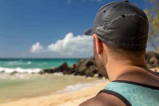 Beach, Blur, Cap, Close-up, Clouds, Landscape, Leisure