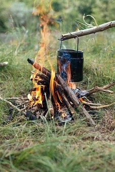 Blur, Close-up, Cooking, Daylight, Field, Fire