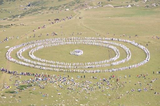 Paneurhythmy, Dance, Mountain, Rila, Bulgaria, Circles