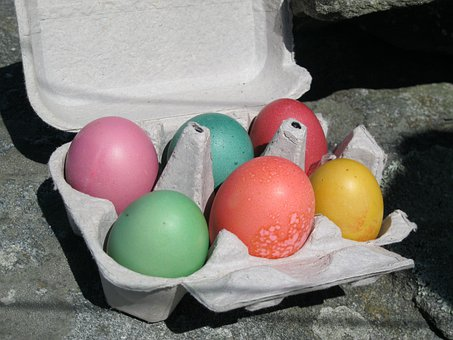 Easter Eggs, Colored Eggs, Holidays, Easter, Tradition