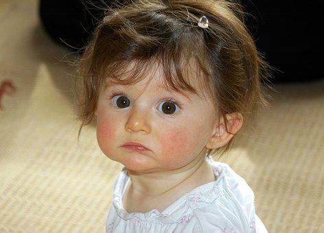 Little Girl, Portrait, Face, Big Eyes, Baby, Cute
