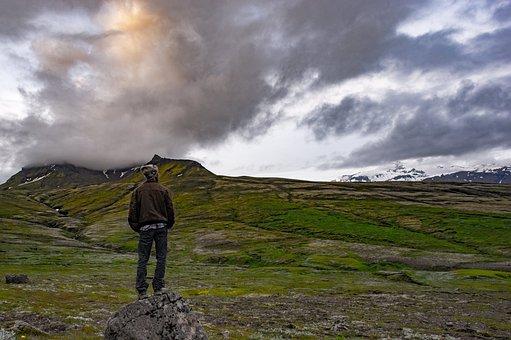 Adventure, Back View, Clouds, Daylight, Grass