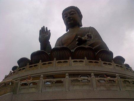 Buddha, Statue, Hong Kong, Asian, Vacations, Holidays