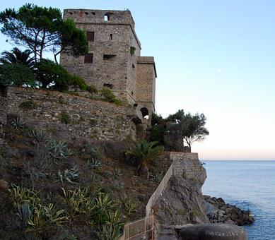 Torre, Cliff, Sea, Staircase, Stairs, Italy