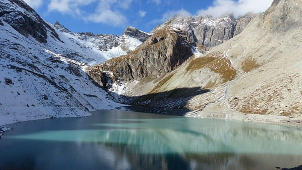 Landscape, Nature, Mountain, Lake, Alps, Snow