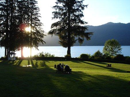Lake Quinault, Lake Quinault Lodge, Nature, Water