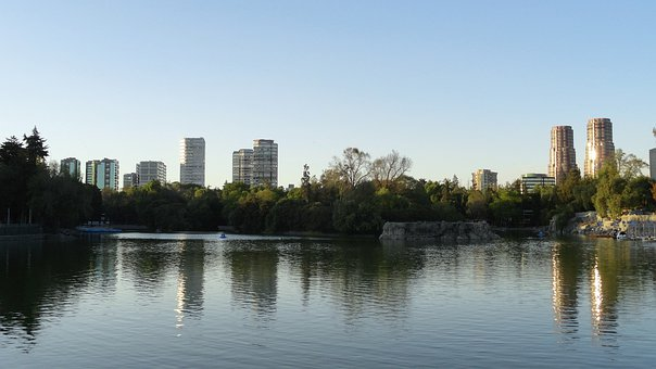 Chapultepec Forest Lake, Mexico, Landscape