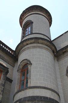 Tower, Castle, Chapultepec, Mexico, Rock, Wall, Stone