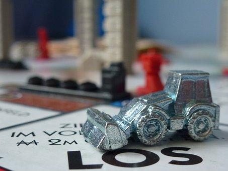 Monopoly, Monopoly City, Los, Excavators, Pewter