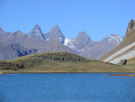 Lake, Mountain, Nature, Valloire, Cerces