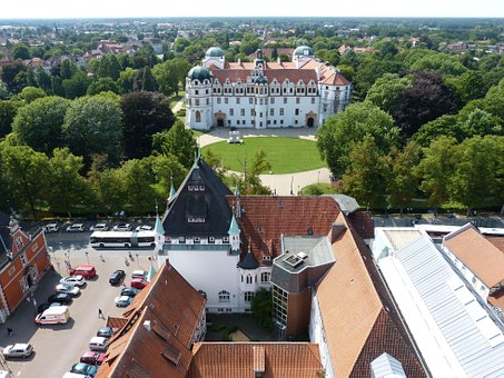 Celle, Lower Saxony, Old Town, View, Outlook, Palace