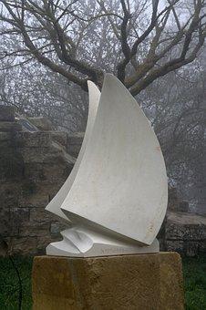 Fog, Sculpture, Artwork, Italy, Sicily, Enna