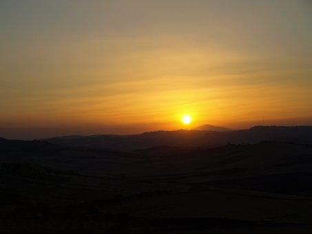 Sunset, Enna, Sicily, Barrafranca