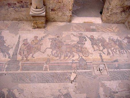 Mosaic, Piazza Armerina, Sicily, Enna Restoration