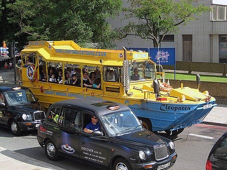 Tour, Amphibious, London, English, Taxis