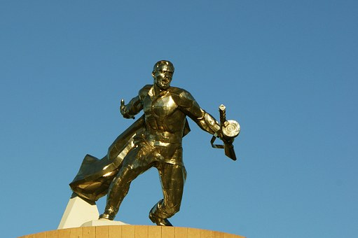 Ukraine, Novo Odesa, Memorial, Statue, Soldier