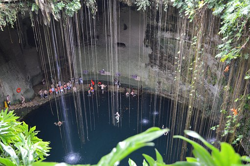 Cenote, Mexico, Well, Water