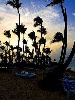 Beach, Evening, Sun, Holiday, Dominican, Republic, Alto