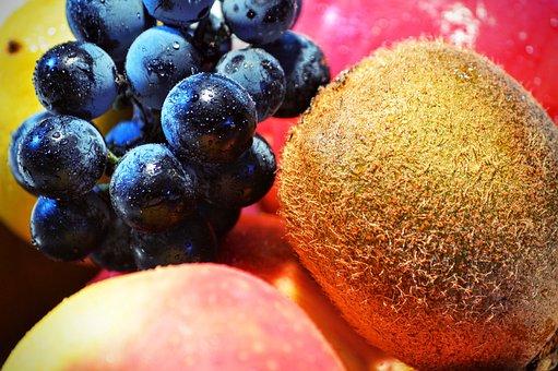 Grape, Kiwi, Fruit, Apple, Raw, Healthy, Berry