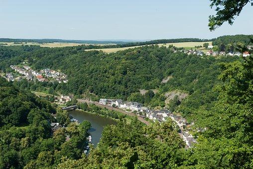 Balduinstein, Germany, Village, Town, Buildings, Houses