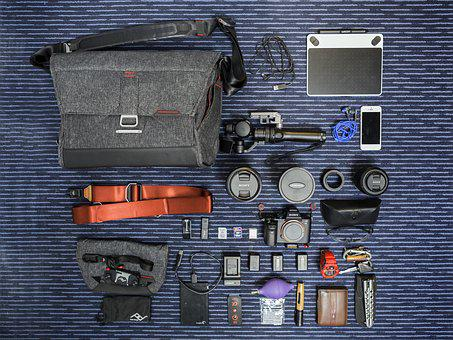Bag, Belt, Box, Cable Charger, Camera, Cellphone