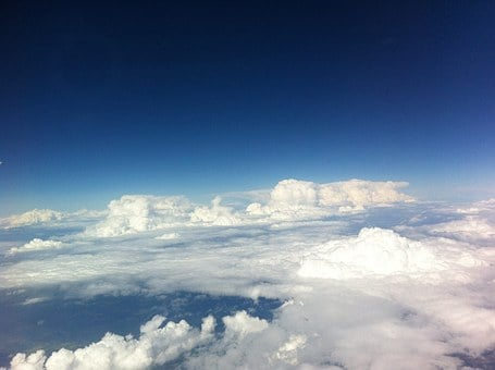 Above The Clouds, Sky, Blue, From The Plane, View