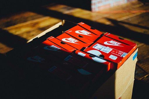 Blur, Boxes, Nike, Shadow, Shoe Box, Text