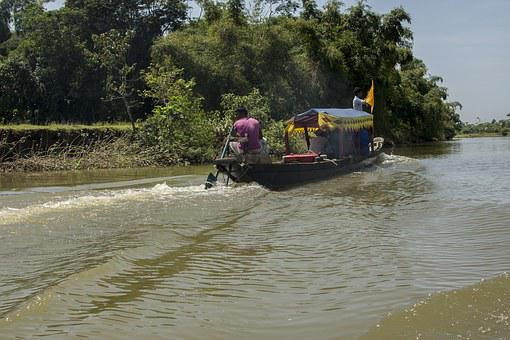 River, Boat, Tamron, Bangladesh, Bichnakandi, Sylhet