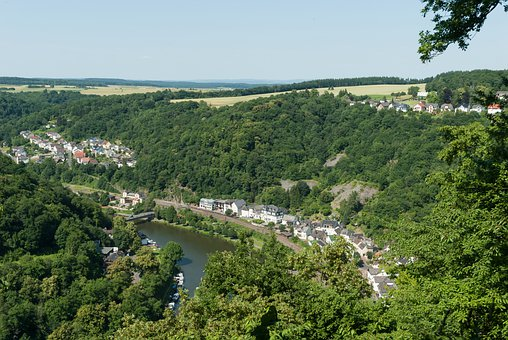 Balduinstein, Germany, Village, Town, Buildings, Houses