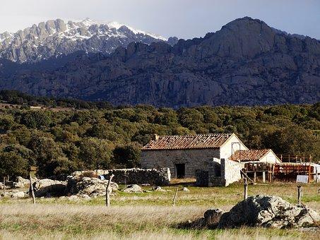 Cabin, Mountain Scenery, Pedriza