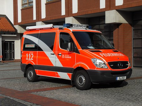 Feuerwehr, Firetruck, Fire Truck, Mercedes, Car, Berlin