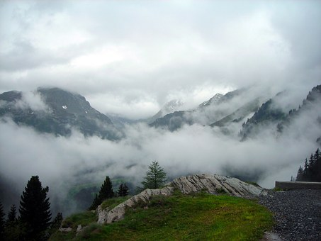 Alpine, Clouds, Pass, Italy, Moloja, High, Mountains