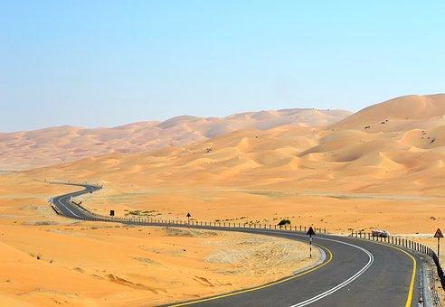 Barren, Desert, Dry, Hot, Landscape, Outdoors, Road
