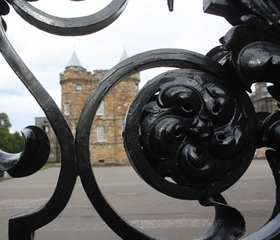 Edinburgh, Scotland, Palace Of Holyroodhouse, Fence