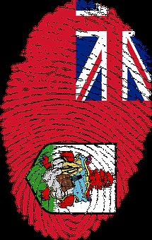 Bermuda, Flag, Fingerprint, Country, Pride, Identity