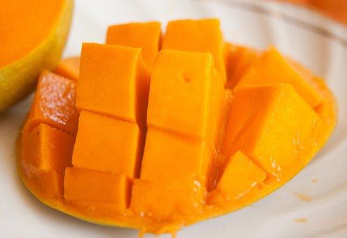Mango, Fruit, Sliced, Exotic, Orange, Ripe, Food, Fresh