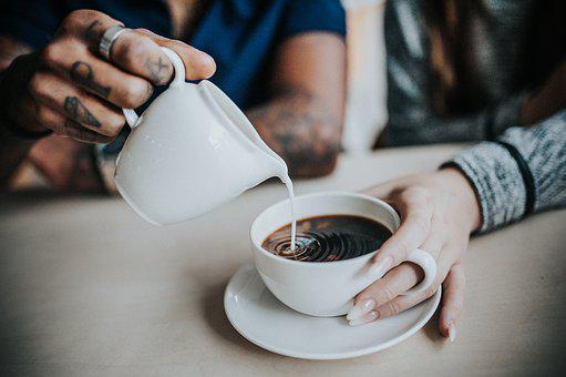 Coffee, Milk, Caffeine, Cappuccino, Ceramic, Close-up
