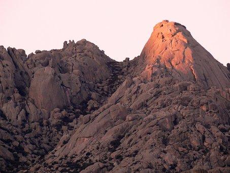 Helmet, Pedriza, Sunset, Mountain