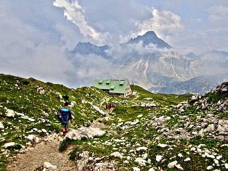 Mindelheimer Hut, Allgäu, Alpine, Mountains, Dav Hut