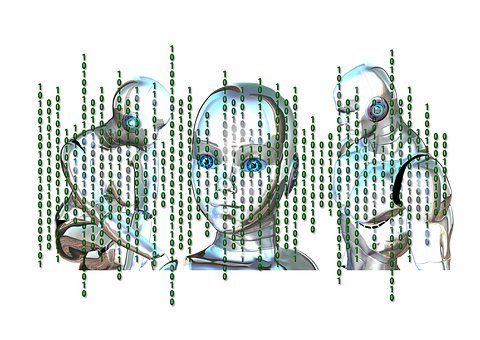 Binary, Head, Face, Cybernetics, Mask, Random, Pay