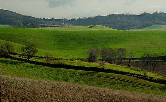 France, Lala, Hills, Fields, Prairie