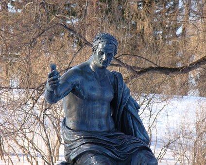 The Palace Ensemble Tsarskoe Selo, Russia, Statue
