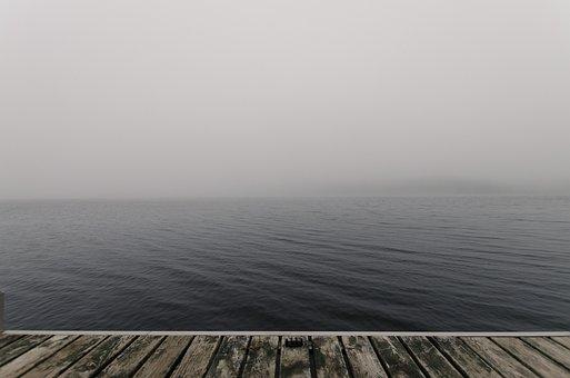 Beach, Fog, Jetty, Mist, Ocean, Pier, Sea, Water, Wood