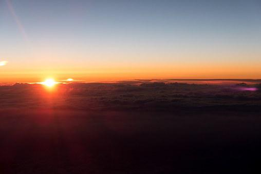 Sunset, Above The Clouds, Aircraft, Sky, Flying, Flight
