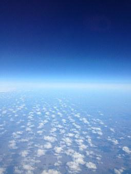 Clouds, Sky, Blue, View From Plane, Nature, Weather