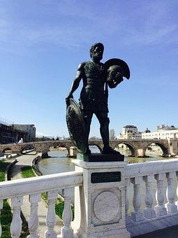 Statue, Skopje, Alexander The Great, Figure